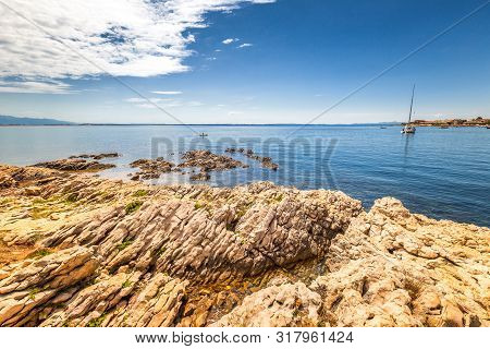 View Of Sea From The Vir Island In The Zadar County Of Croatia, Europe.