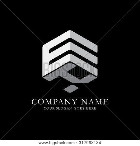 Ek Initial Letter Logo Inspiration, E And K Combination Logo Vector With Hexagonal Idea