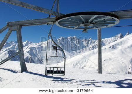 Empty Ski Gondola