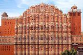 Hawa Mahal- Palace of Winds, Jaipur-pink city. India. poster