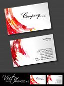 Abstract colorful bright color professional and designer business card set or visiting card set. EPS 10. Vector illustration. poster