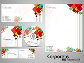 Professional Corporate Identity kit or business kit with artistic, abstract colorful design  for your business includes CD Cover, Business Card, Envelope and Letter Head Designs in EPS 10 format. poster