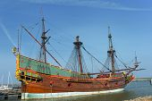 Replica of a old Dutch galleon the VOC Batavia poster