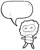 cartoon little creature talking poster