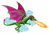 An Illustration of a Dragon with Clipping Path poster