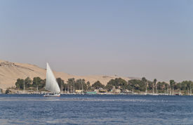 Egyptian sailing boat - feluka.