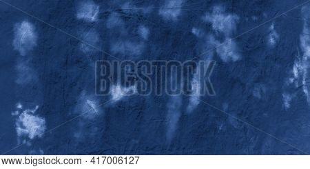 Abstract Watercolour Stains. Indigo Denim Tie Dye Print. Handmade Wallpaper. Paint Watercolor Abstra