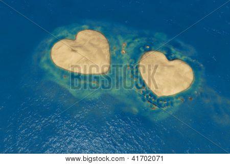 Two Heart Shape Islands