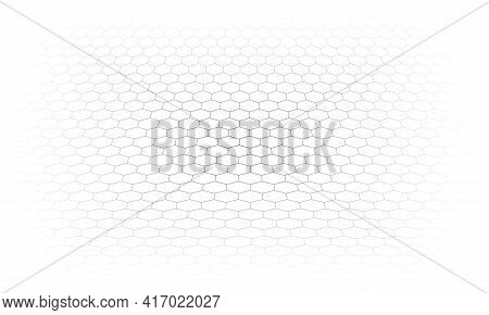 Hexagon  Perspective Grid. Abstract Hexagonal A Background.