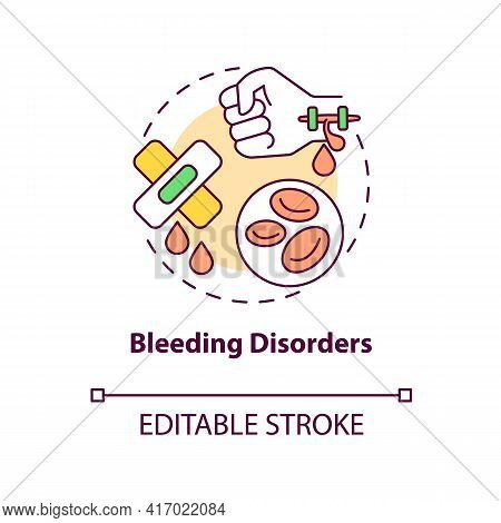 Bleeding Disorders Concept Icon. Liver Failure Outcome Idea Thin Line Illustration. Life-threatening