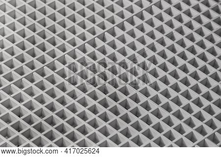 Surface With Square Cellular Structure. Background. Stock Photography