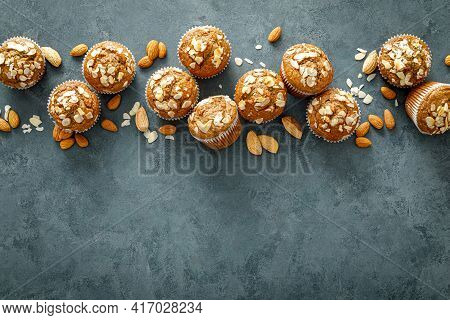 Healthy Gluten Free Almond Muffins With Nut Slices
