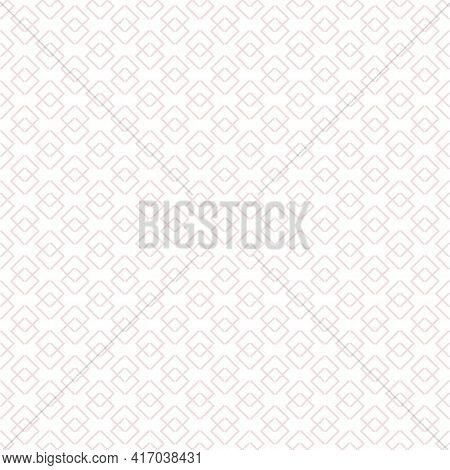 Subtle Vector Abstract Geometric Pattern With Linear Shapes, Small Rhombuses, Diamonds. Stylish Mini