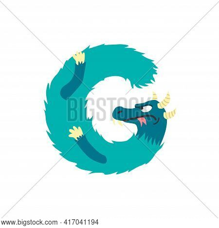 Monster Alphabet Symbol. Letter G Of English Alphabet Shaped As Monster. Children Colorful Cartoon F