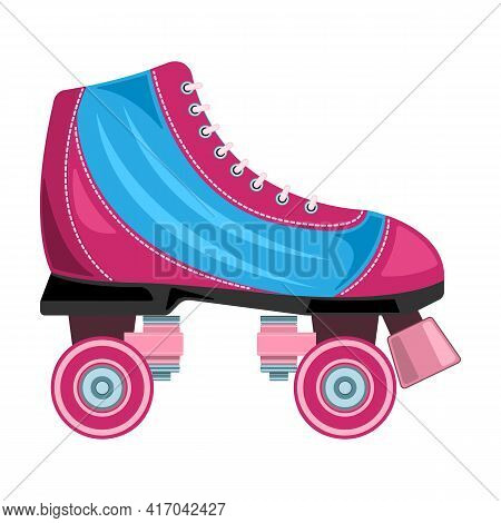 Roller Skate Vector Icon.cartoon Vector Icon Isolated On White Background Roller Skate.
