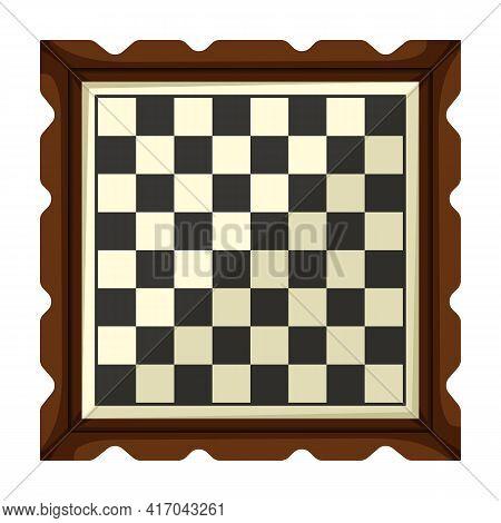 Chess Game Cartoon Vector Icon.cartoon Vector Illustration Of Cheesboard. Isolated Illustration Of C