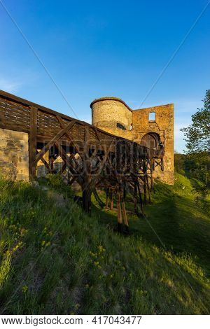 Ruins of Krakovec castle in Central Bohemia, Czech Republic