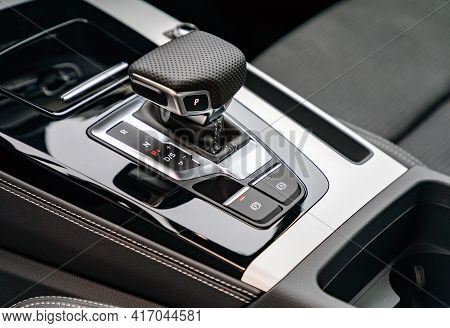 Gear Shift In New Luxurious Car, Automatic Transmission