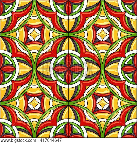 Ceramic Tile Pattern. Gorgeous Seamless Pattern. Can Be Used For Wallpaper Pattern Fills Web Page Ba