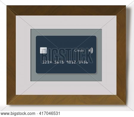 Here Is Someone's Favorite Credit Card Honored By Being Kept In A Frame Hanging On The Wall Like A W