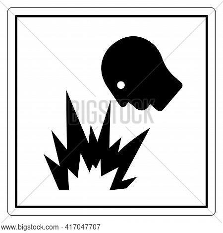 Arc Flash Hazard Eye Flying Light Symbol Sign, Vector Illustration, Isolate On White Background Labe