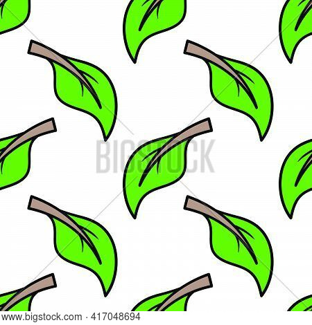 Leaf Seamless Pattern Textile Print. Great For Summer Vintage Fabric, Scrapbooking, Wallpaper, Giftw