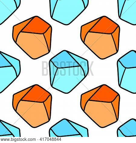 Diamond Stone Texture Seamless Pattern Textile Print. Great For Summer Vintage Fabric, Scrapbooking,