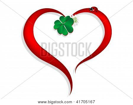 Heart With Clover