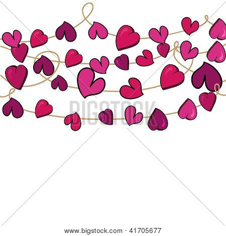 Valentine Love Heart Flowers Hanging