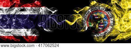 Thailand, Thai Vs United States Of America, America, Us, Usa, American, Honolulu, Hawaii Smoky Mysti