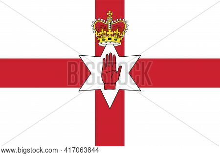 National Northern Ireland Flag, Official Colors And Proportion Correctly. National Northern Ireland