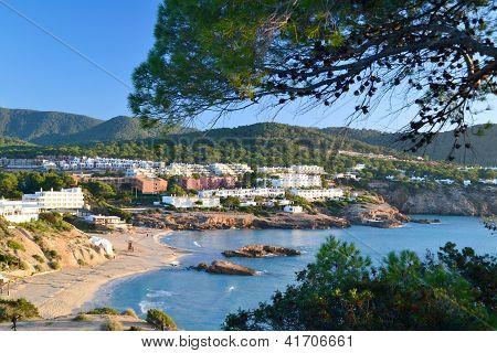 Cala Tarida beach in Ibiza, Spain