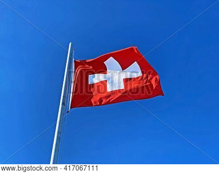 National Flag Of The Swiss Confederation (flag Of Switzerland - National Flag Of Switzerland) / Nati