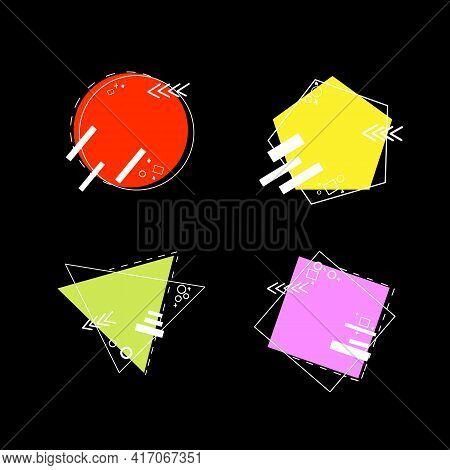 Sale Banners Shape. Vector Promo Ribbons And Tags. Discount Offer Price Label, Symbol For Advertisin