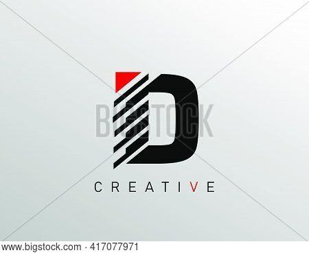 Creative Modern Letter D Logo, Monogram D Logo Icon.