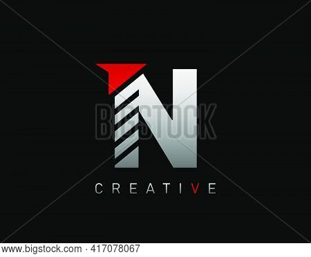 Creative Modern Letter N Logo, Abstract N Letter Logo Icon.