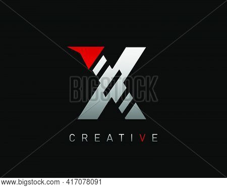 Creative Modern Letter X Logo, Abstract X Letter Logo Icon.