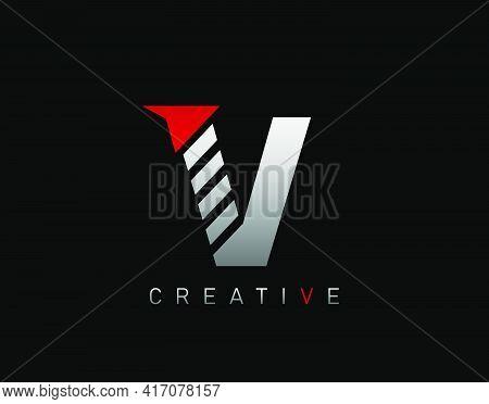 Creative Modern Letter V Logo, Abstract V Letter Logo Icon.