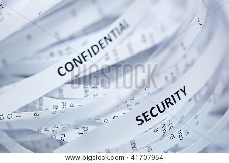 Pile Of Shredded Paper - Confidential And Security