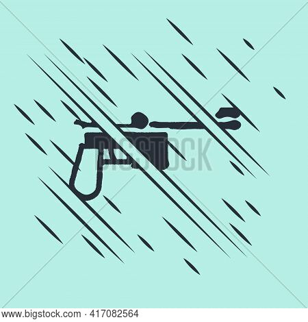 Black Mauser Gun Icon Isolated On Green Background. Mauser C96 Is A Semi-automatic Pistol. Glitch St