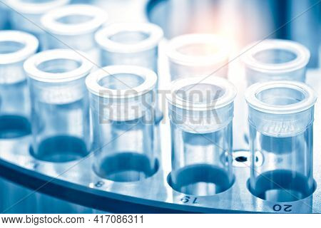 Science And Medical Research Test Tubes, Covid 19 Corona Virus Pcr Test