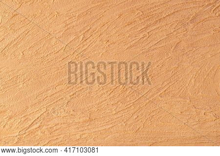 Orange Lined Plaster Texture. Decorative Plaster. Wall Decor Background