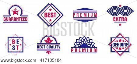 Badges And Logos Collection For Different Products And Business, Premium Best Quality Vector Emblems