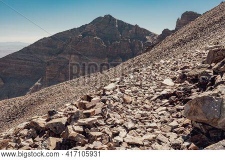Trail To Wheeler Peak And Jeff Davis Peak In The Background