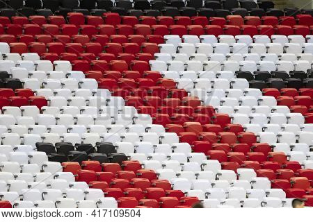 Rio, Brazil - April 15, 2021: Grandstand Chair In Match Between Flamengo V Vasco By Carioca Champion