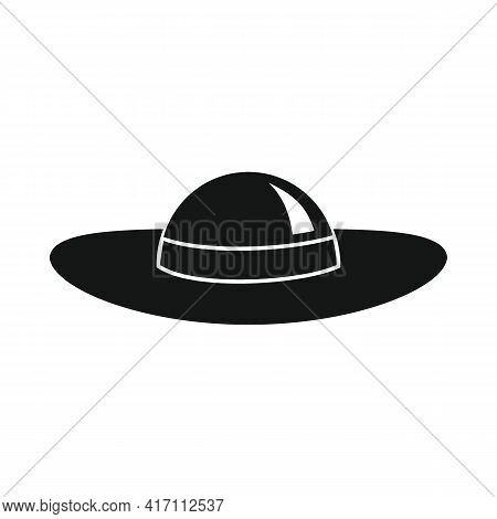 Vector Hat For Tanning Black Simple Icon Isolated