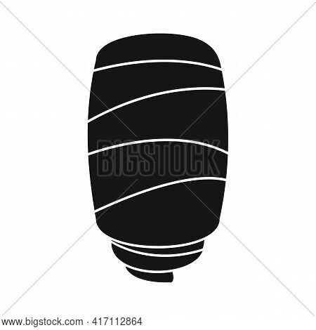 Vector Bacon Black Simple Icon Isolated On White