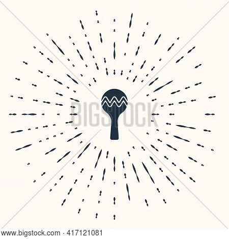 Grey Maracas Icon Isolated On Beige Background. Music Maracas Instrument Mexico. Abstract Circle Ran