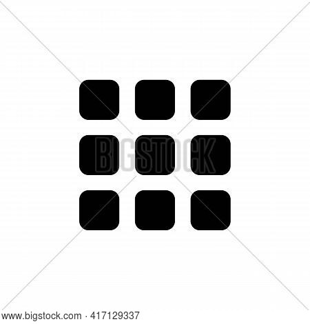 Product Catalog View Or List Menu Solid Black Icon. Content View Options Symbols. Trendy Flat Isolat