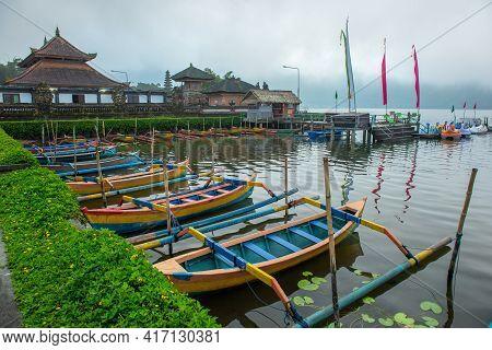Group Of Traditional Balinese Kayak Called